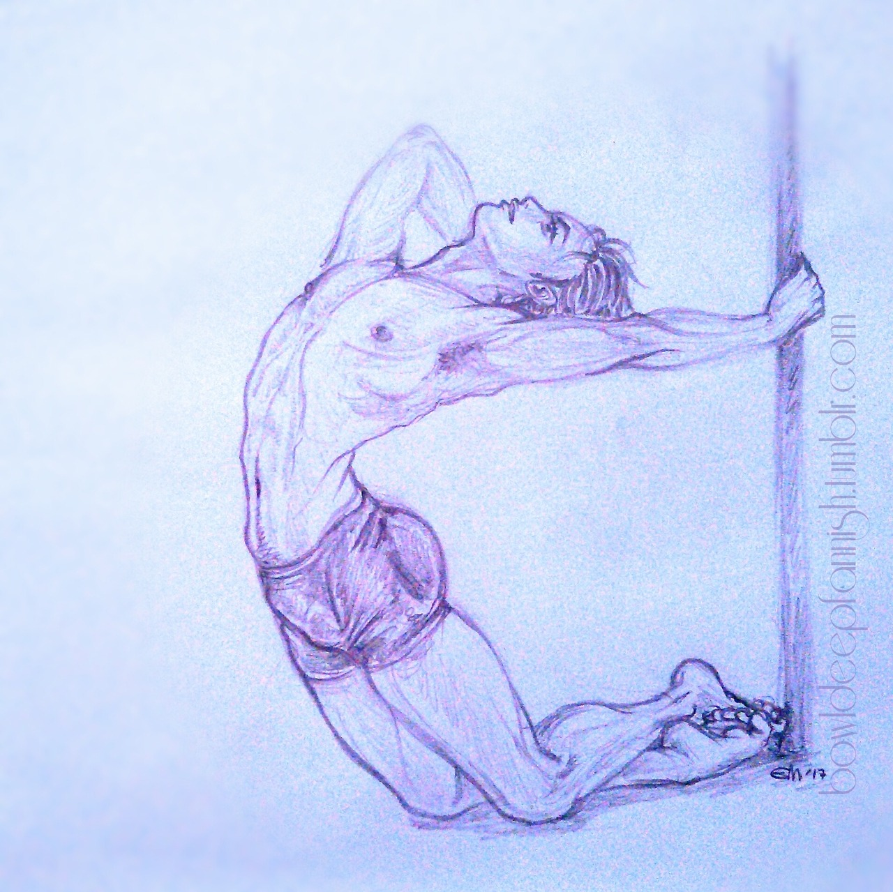 Yuuri Pole Dancing drawn by bowldeepfannish